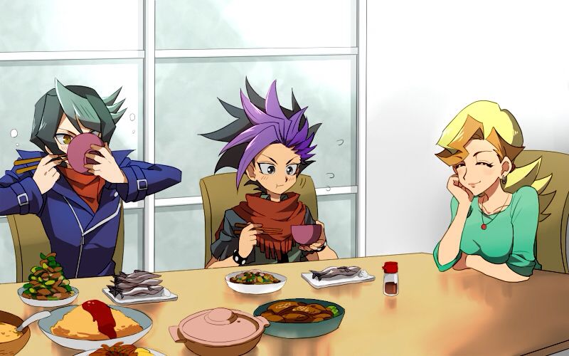 Yugioh Arc V Fan Art Shay Obsidian And Yuto And Yuyas Mom