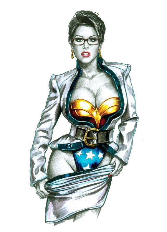 Wonder woman erotic artwork