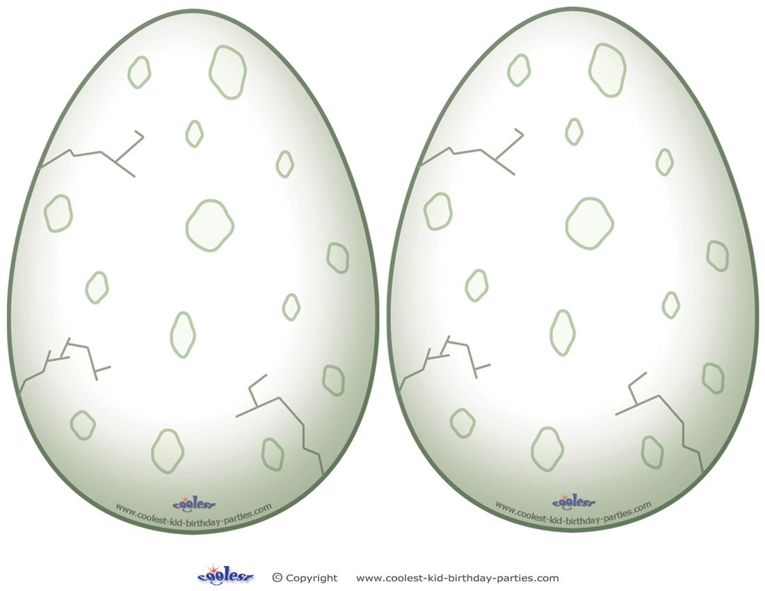 Medium Printable Dinosaur Egg Decorations Coolest Free