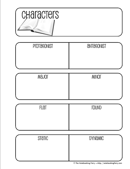 Character Notebooking Pages - Who's the protagonist ...