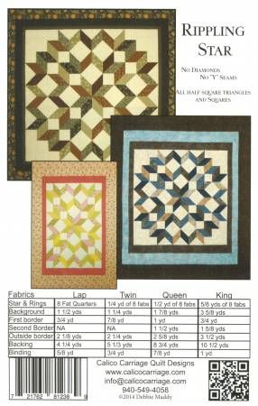 Modern Carpenter/'s Star Quilt Pattern by Calico Carriage Designs