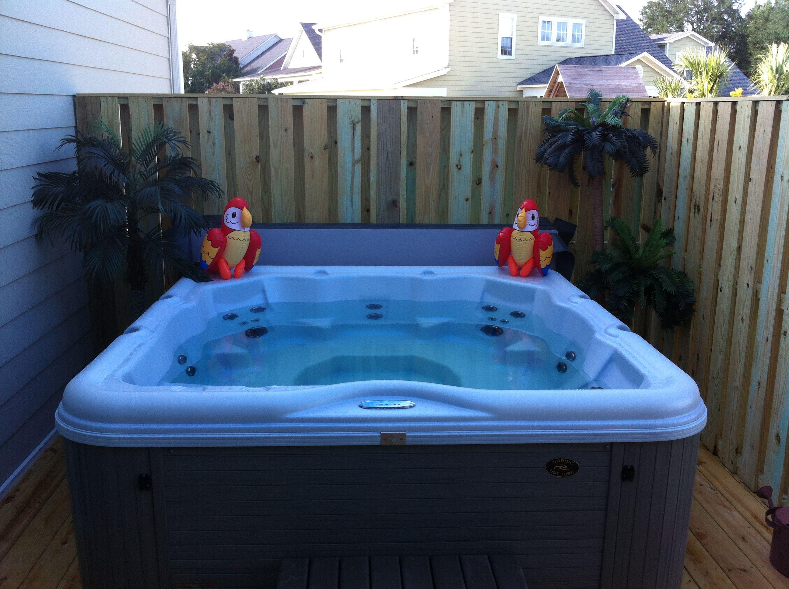 Hot tub w/shadow box privacy walls. | Deck Project | Pinterest ...