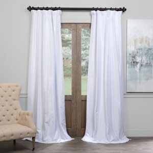 White Orchid Faux Linen Sheer Single Panel Curtain Panel 50 X 96 Half Price Drapes Draper Faux Silk Curtains Half Price Drapes Silk Curtains