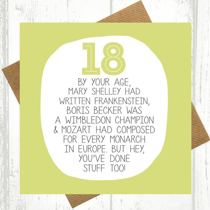 By Your Age… Funny 18th Birthday Card images