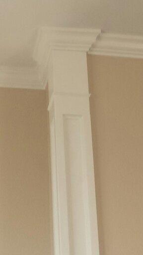 Faux Column Wall Edge Decorative Trim Crown Molding Diy