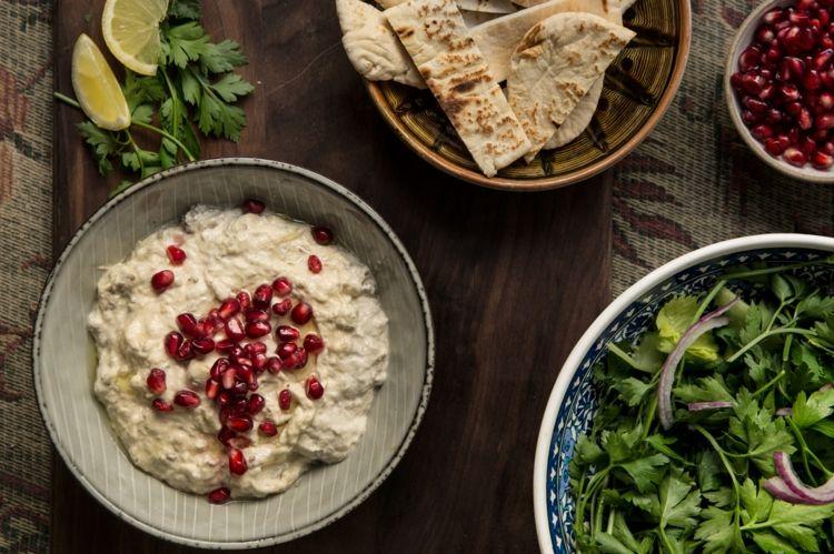 auberginen syrische küche traditionell granatapfel Rezepte - syrische küche rezepte
