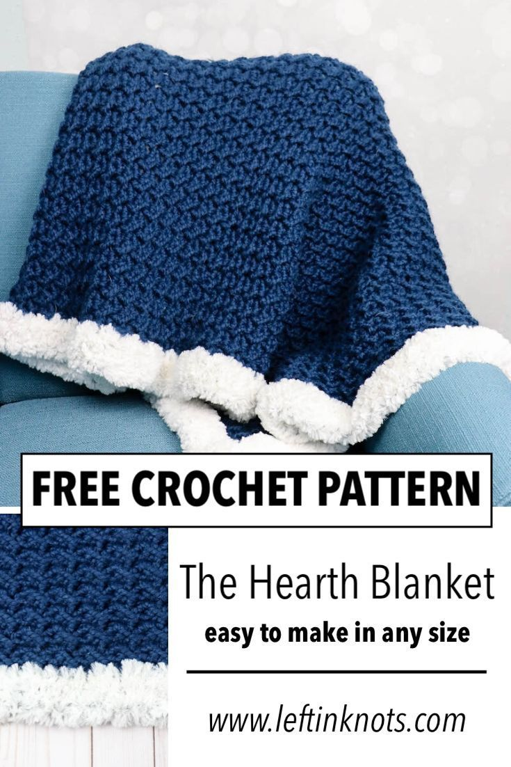 Crochet Hearth Blanket - Free Pattern