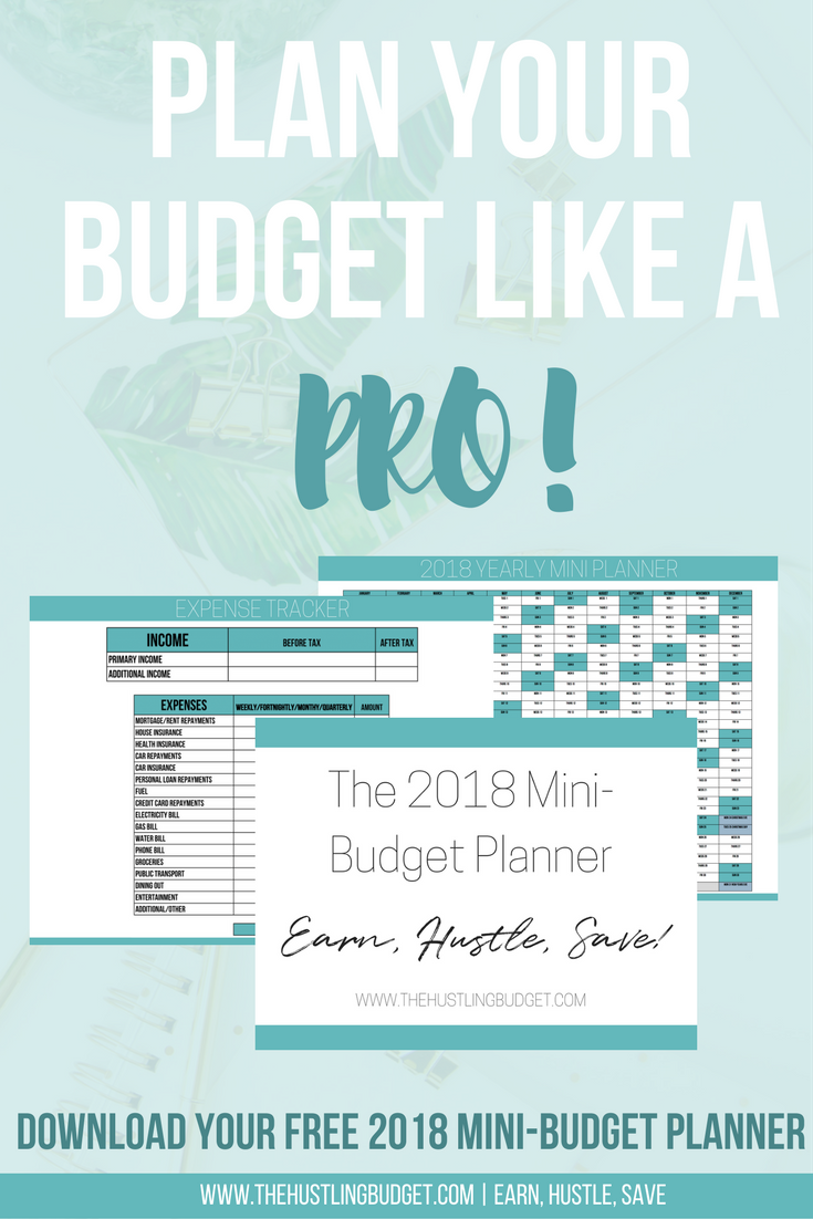 Free  MiniBudget Planner  Budgeting Planners And Saving Money