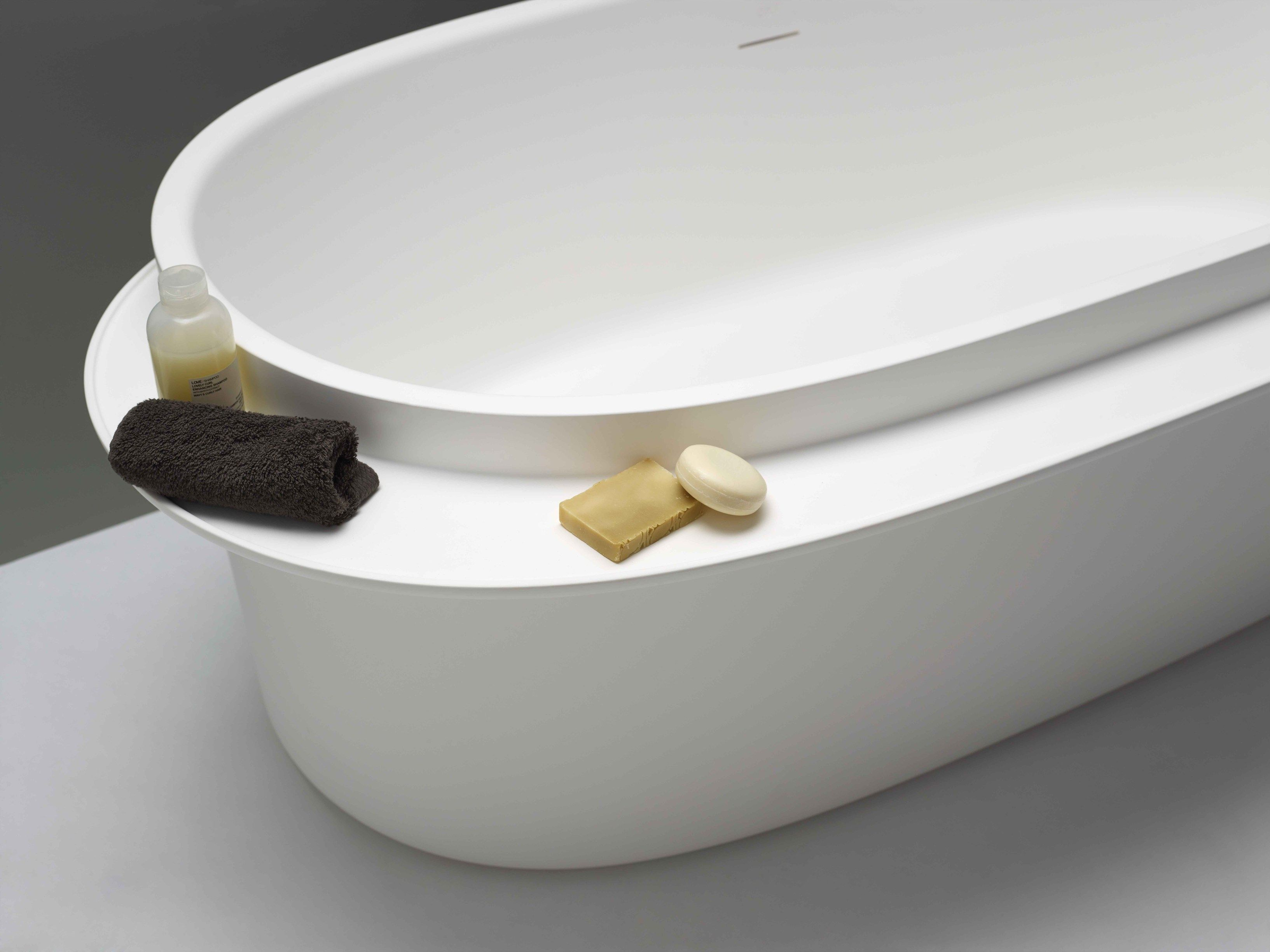 Vasca Da Bagno Metallo : Vasca da bagno ovale in livingtec plateau vasca da bagno ex t