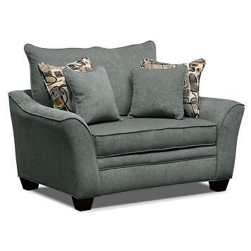 Best Albion Blue Upholstery Chair And A Half Furniture Com 400 x 300