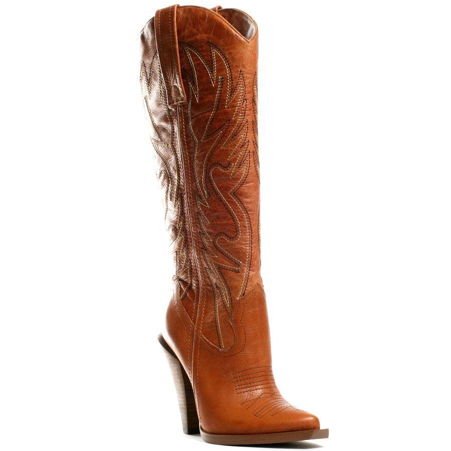 Jessica Simpson Abilene Western Womens Cowboy Tan Boots sz 9.5 10 New Rare