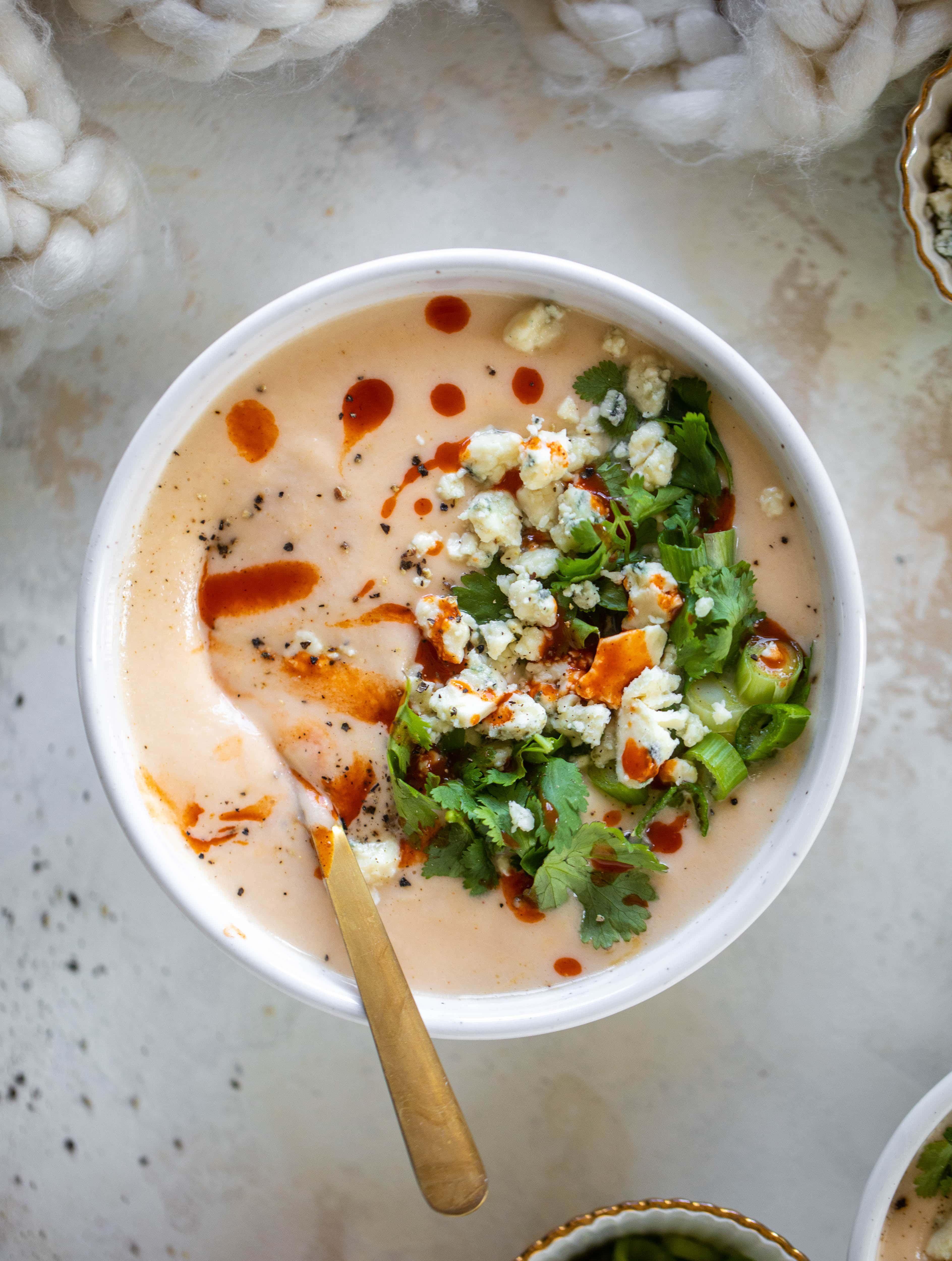 Buffalo Cauliflower Soup Recipe - Buffalo Cauliflower Soup