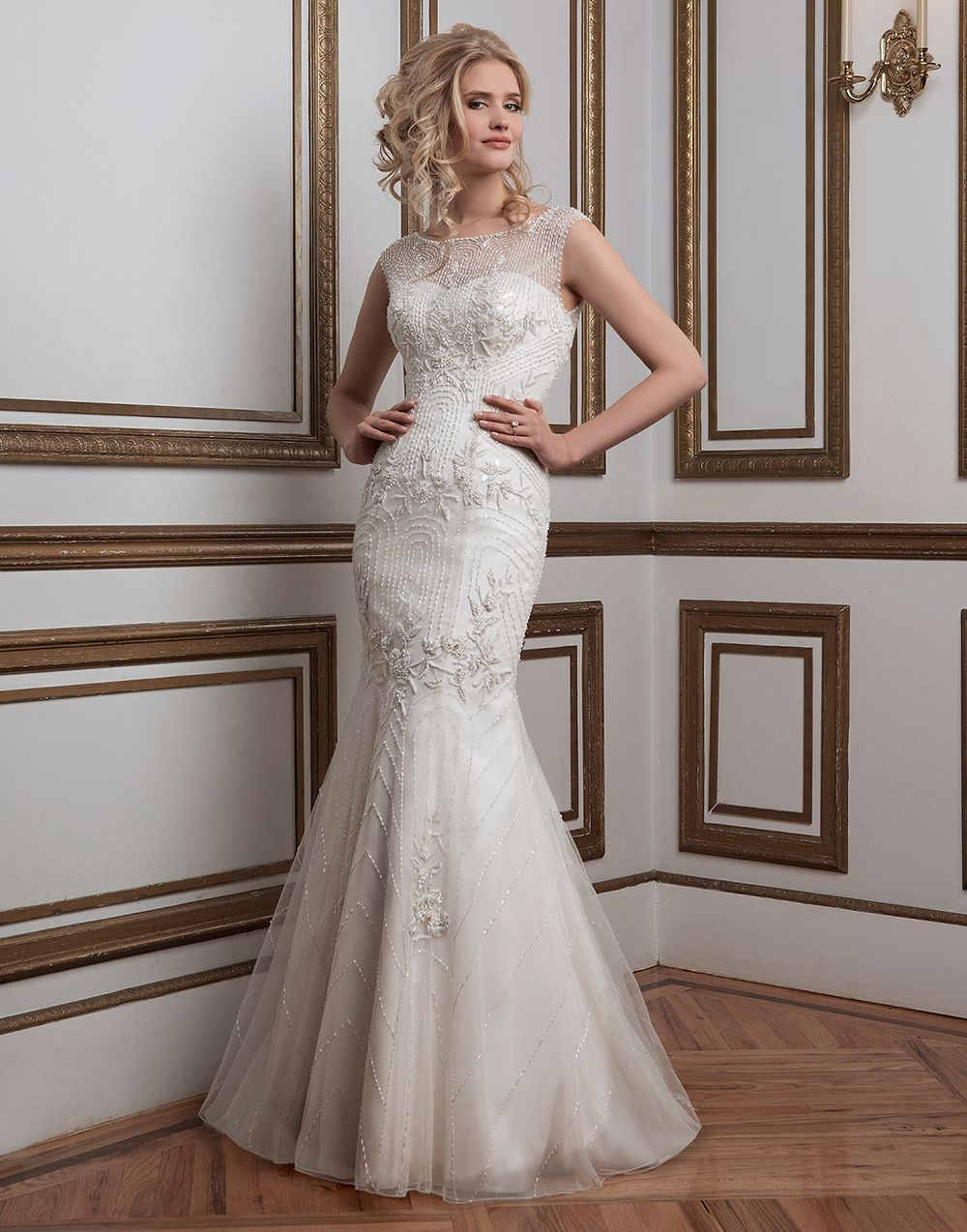 Justin alexander wedding dresses style beaded tulle and satin