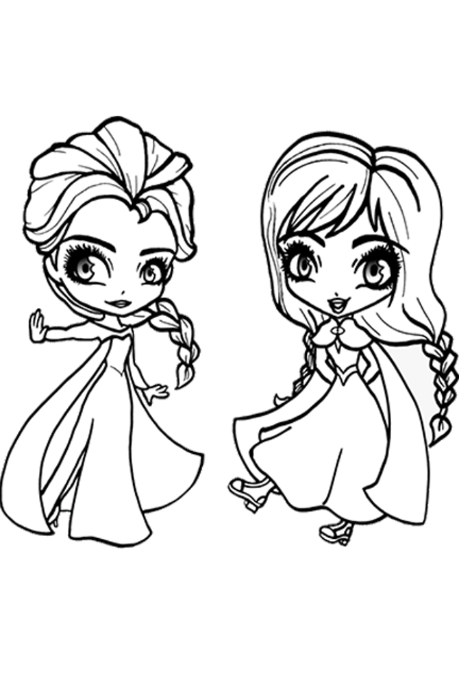 Frozen 2 Coloring Book Gift Elsa Coloring Pages Chibi Coloring Pages Frozen Coloring Pages