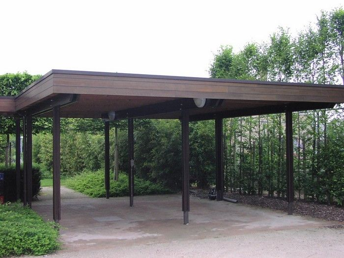 Moderner Carport moderne carports hout garages hout hardhout padouck bogarden