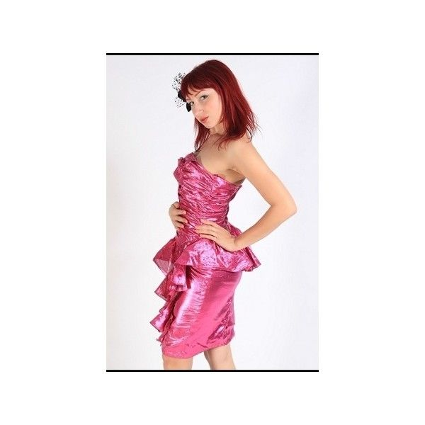 METALLIC BUBBLEGUM PINK 80s PROM DRESS | Back in the day | Pinterest ...