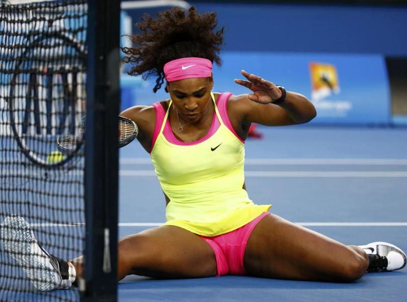 Oops sports Serena william