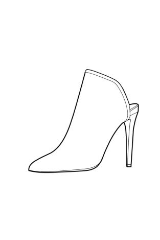 Footwear Tech Sketch Mule Sanat Ayakkabi Moda Cizimleri Tasarim Ayakkabilar