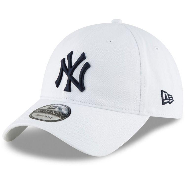 66b2e0e8914 Men s New York Yankees New Era White Core Classic Secondary 9TWENTY  Adjustable Hat