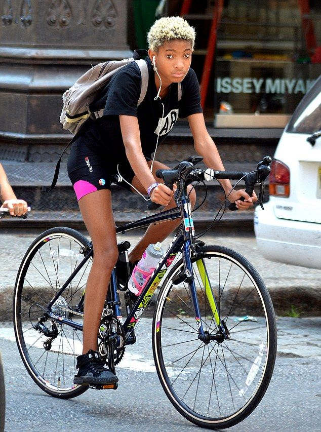 Willow Smith Works Up A Sweat During A Ride Around New York City