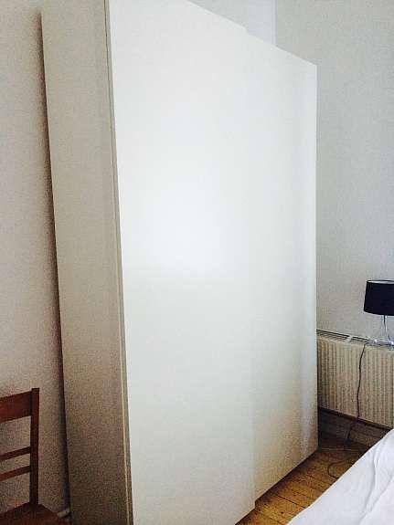 Kleiderschrank Köln ikea pax kleiderschrank mit schiebetüren weiß matt 150x201x44 köln