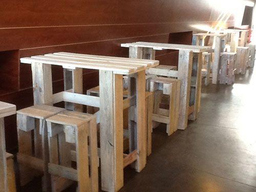 Muebles palets sevilla 22 mesitas y sillas recicle renew for Muebles de palets sevilla