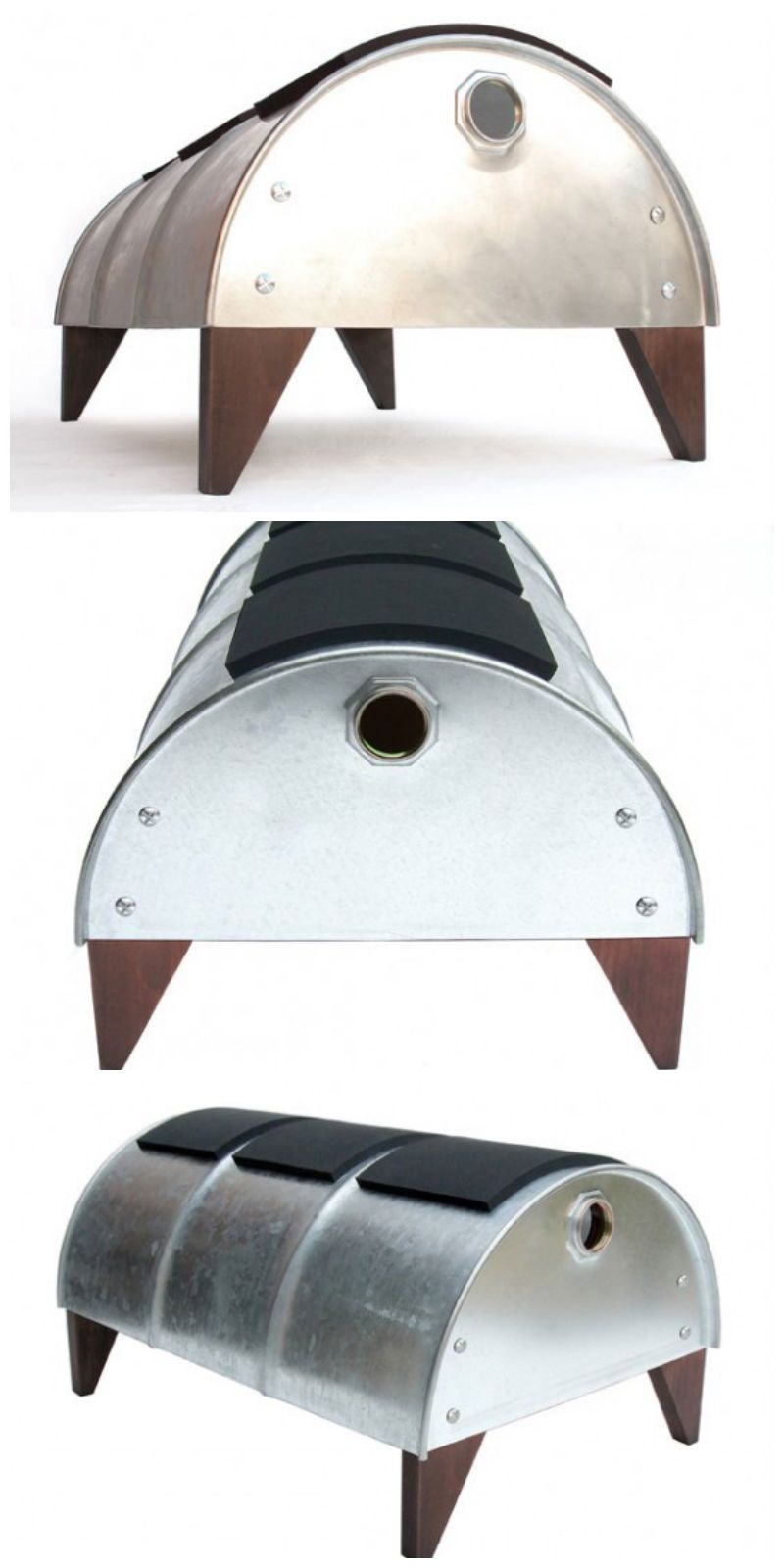 Drum bench ! #Bench, #Drum, #Recycled