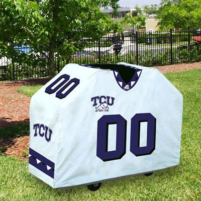 huge discount fd78a 3dcae Texas Christian Horned Frogs (TCU) White Jersey BBQ Grill ...