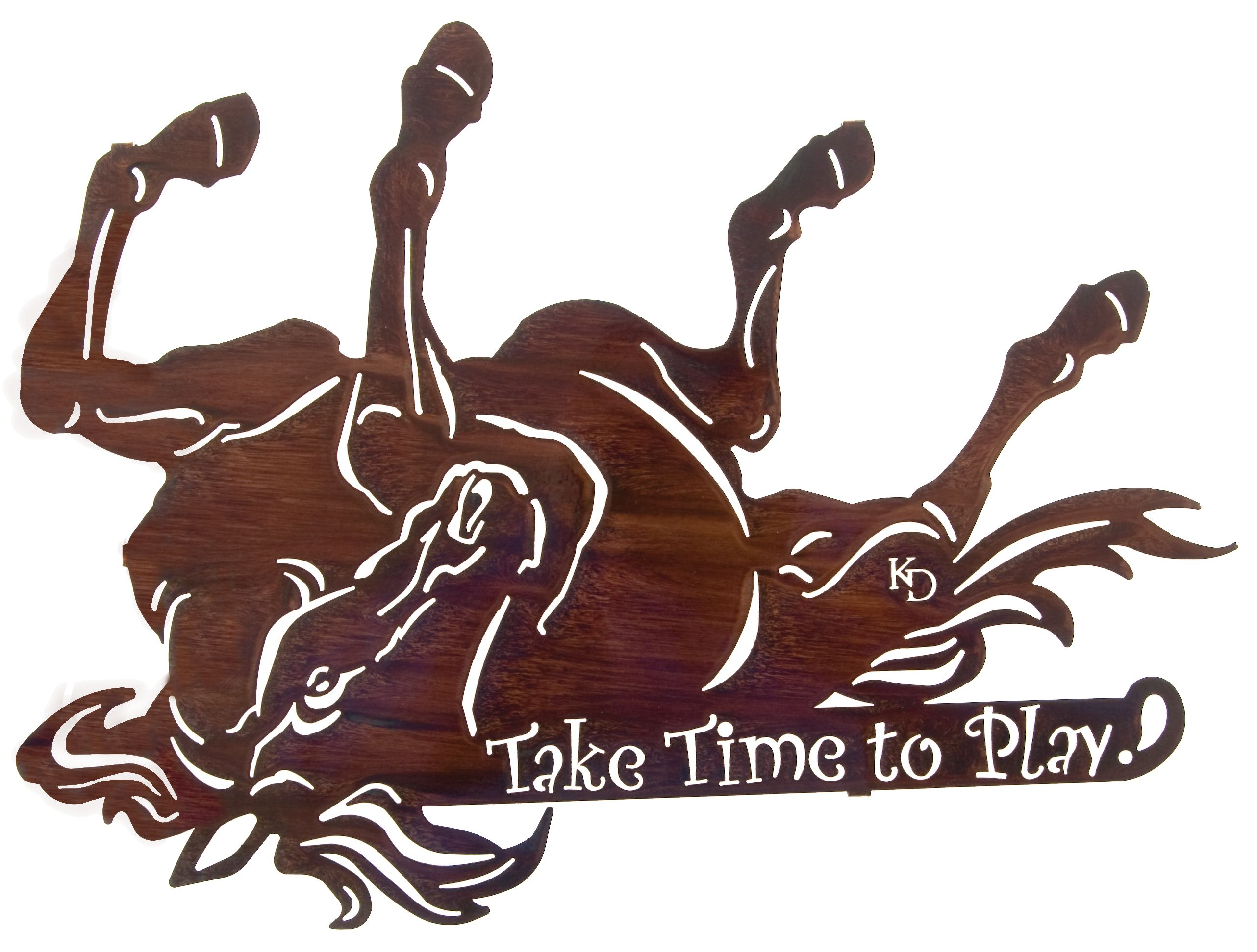 Playing Horse Rustic Wall Art www.rusticeditions.com ...