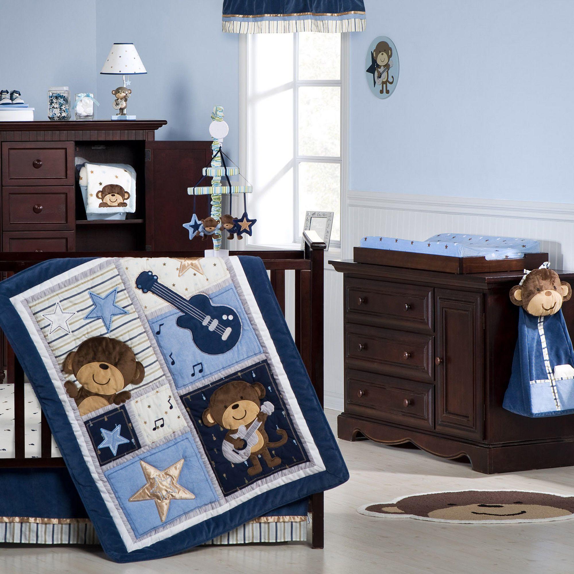 Monkey Rockstar 4 Pc. Crib Set | Carters.com