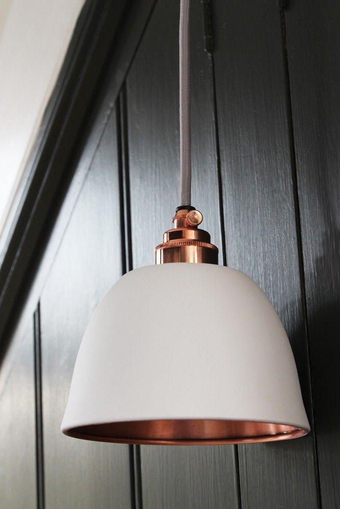 Miniture bell copper matte white ceiling light from rockett st george