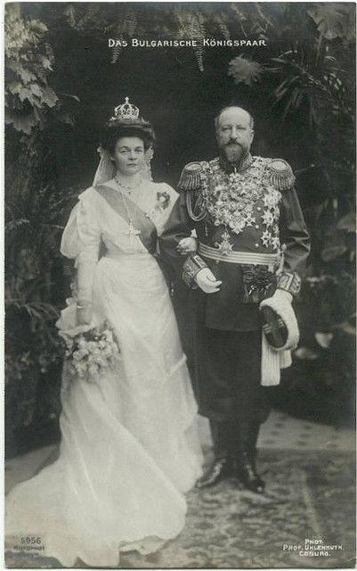Hochzeitsfoto von König Ferdinand und Königin Eleonore von Bulgarien, Weddingphoto King and Queen of Bulgaria