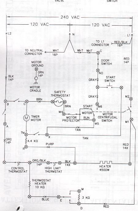Sample Wiring Diagrams Appliance Aid Gas dryer, Wire