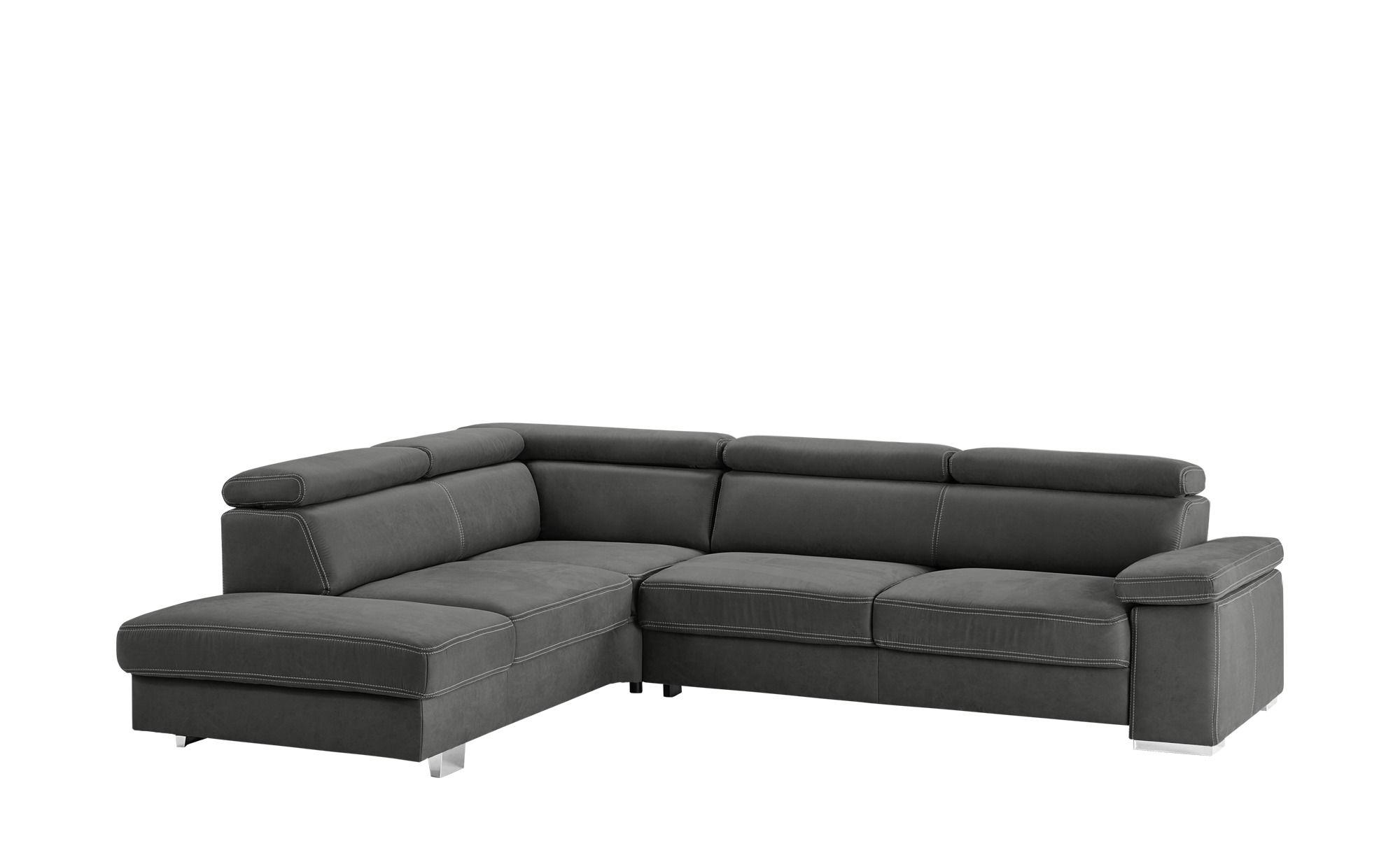 Meinsofa Ecksofa Grau Mikrofaser Nadja Couch Furniture Decor