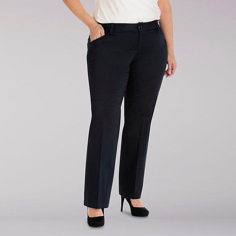 f24209e9 Lee Women's Curvy Fit Maxwell Trouser - Modern Series - Plus Pants (Size