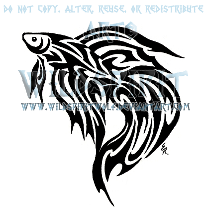 Tribal Betta Fish Tattoo By Wildspiritwolf On Deviantart Tatuaje