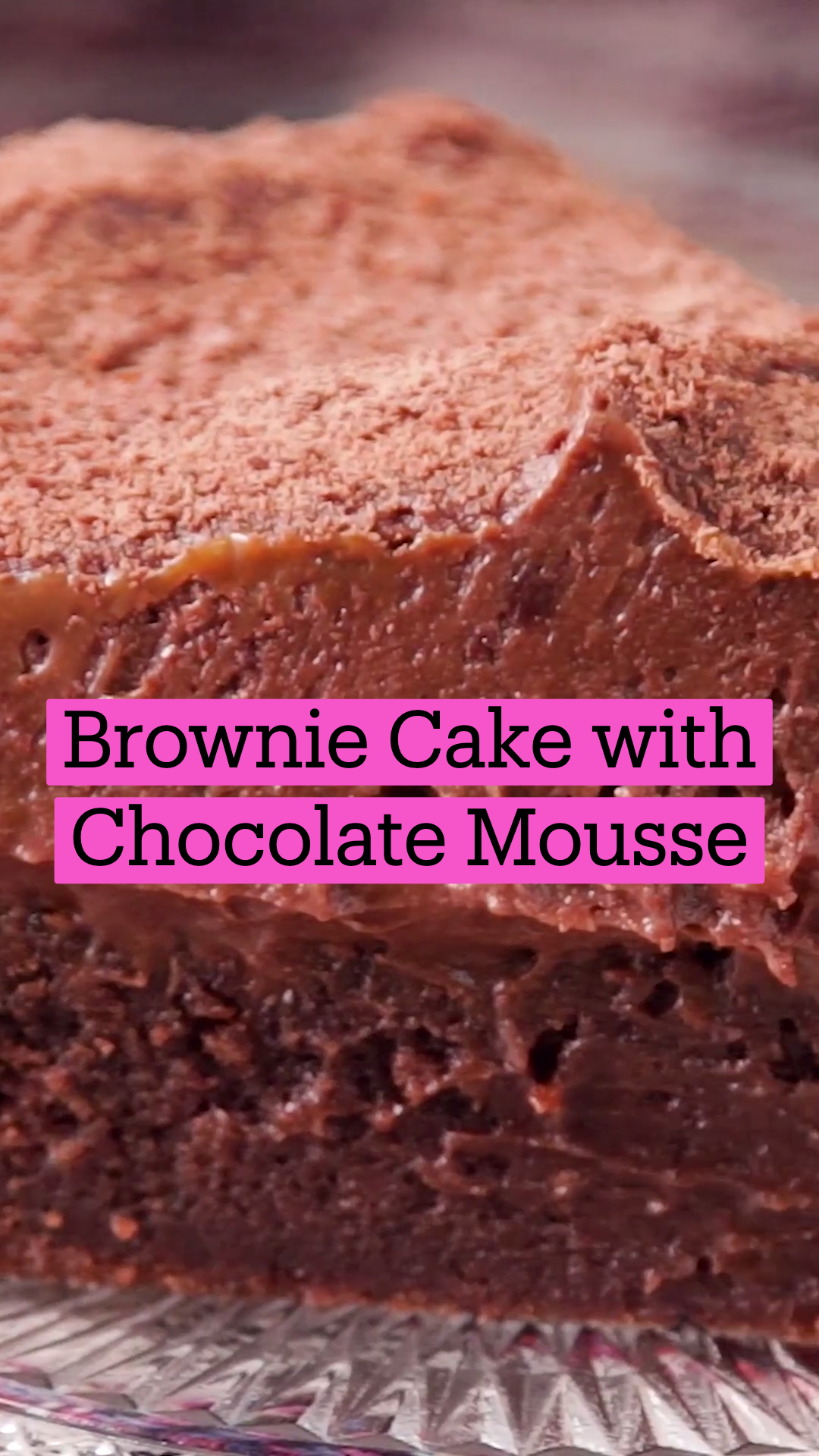 Photo of Brownie Cake with Chocolate Mousse