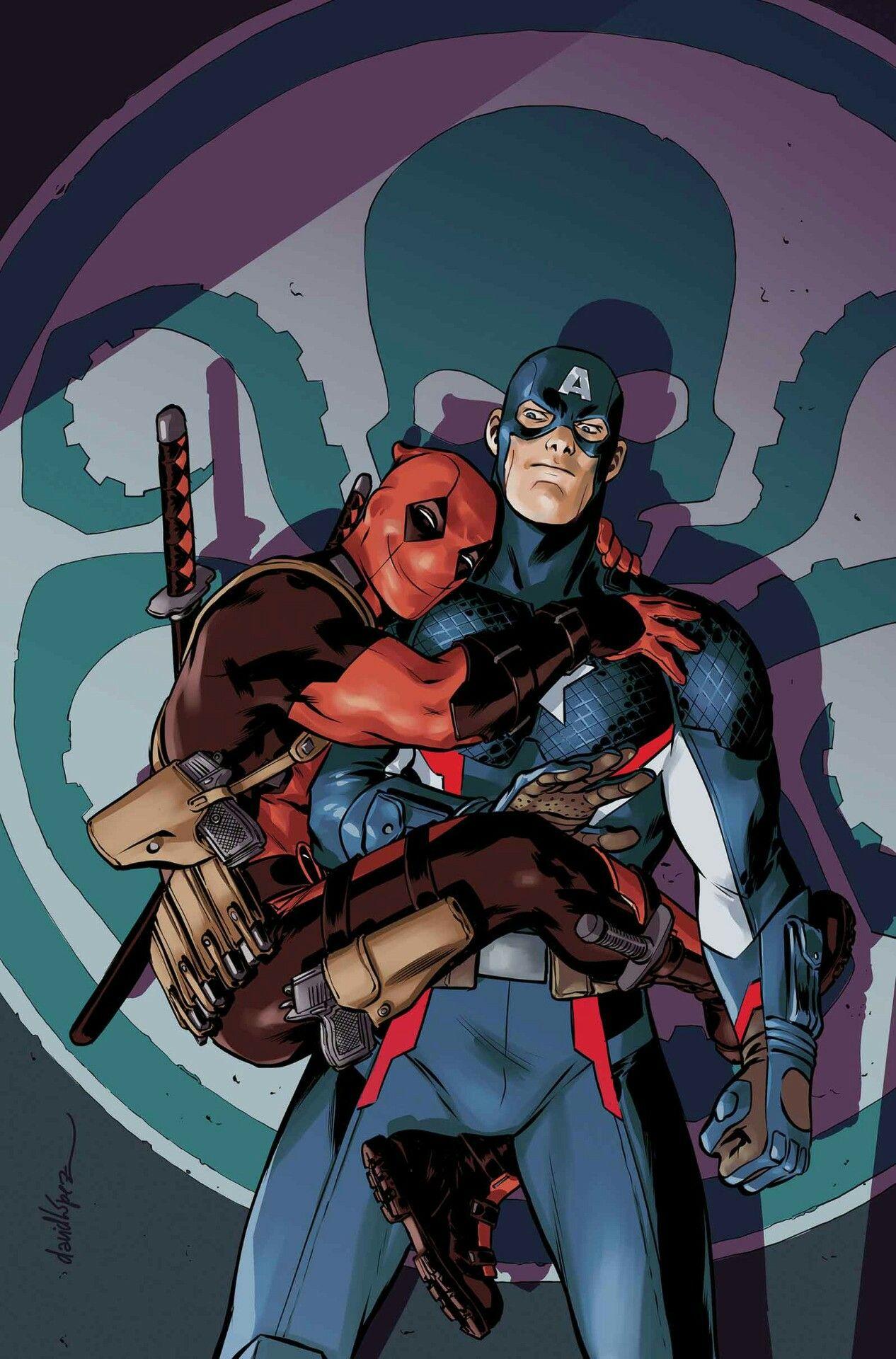Deadpool e Capitão América   MARVEL   Hq marvel ...