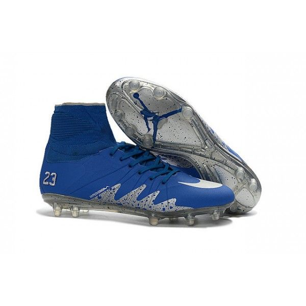 Chaussures de football Nike Hypervenom Phantom II FG Neymar x Jordan Bleu  Argenté · Soccer ShoesFootball ...