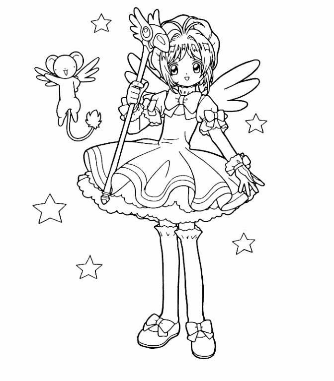 Sakura and kero (2) Lineart by 453679 on DeviantArt | Cardcaptor ...