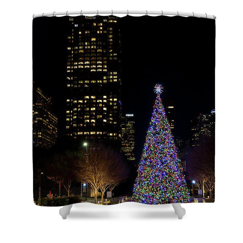 Christmas At Warren Park Shower Curtain by Timeless Moments