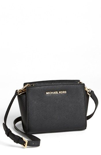 bd0061ccff MICHAEL Michael Kors  Selma - Mini  Saffiano Leather Messenger Bag  available at  Nordstrom in GREEN
