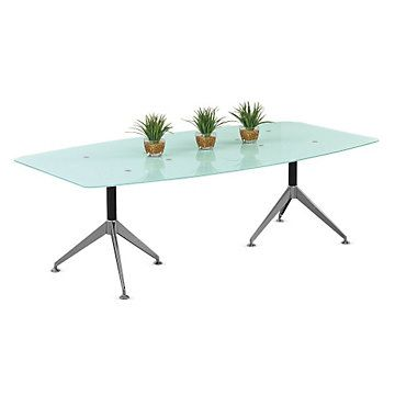 View BoatShaped Conference Table With Glass Top Dimensions - Boat shaped conference table dimensions