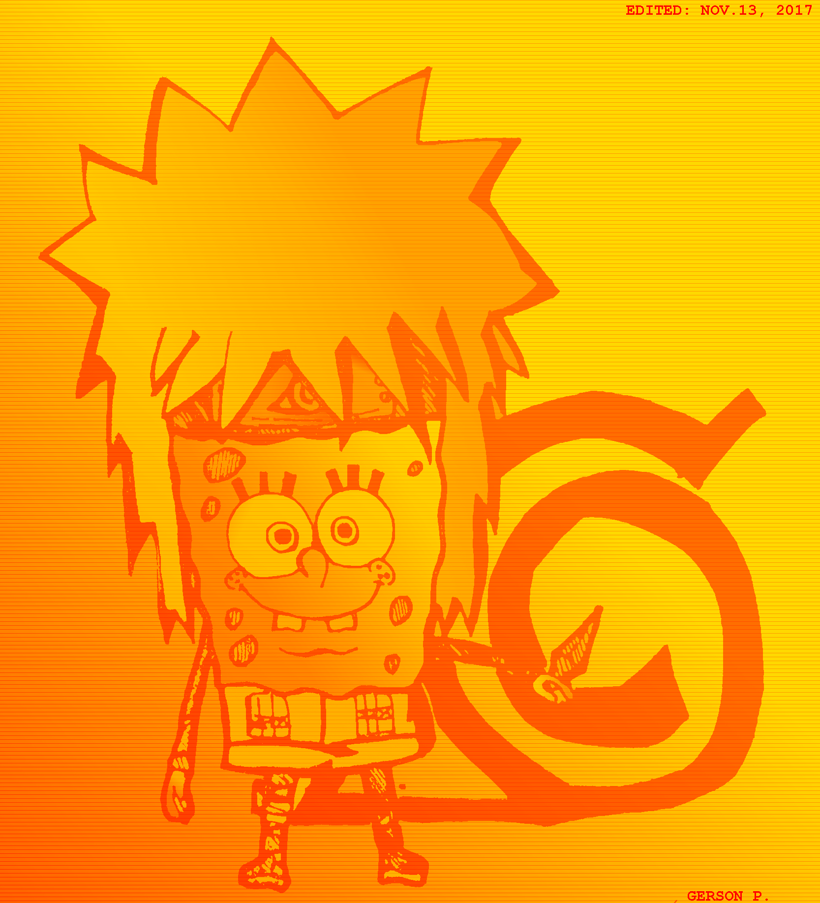 Spongebob Namikaze The Mixed Spongebob And Minato