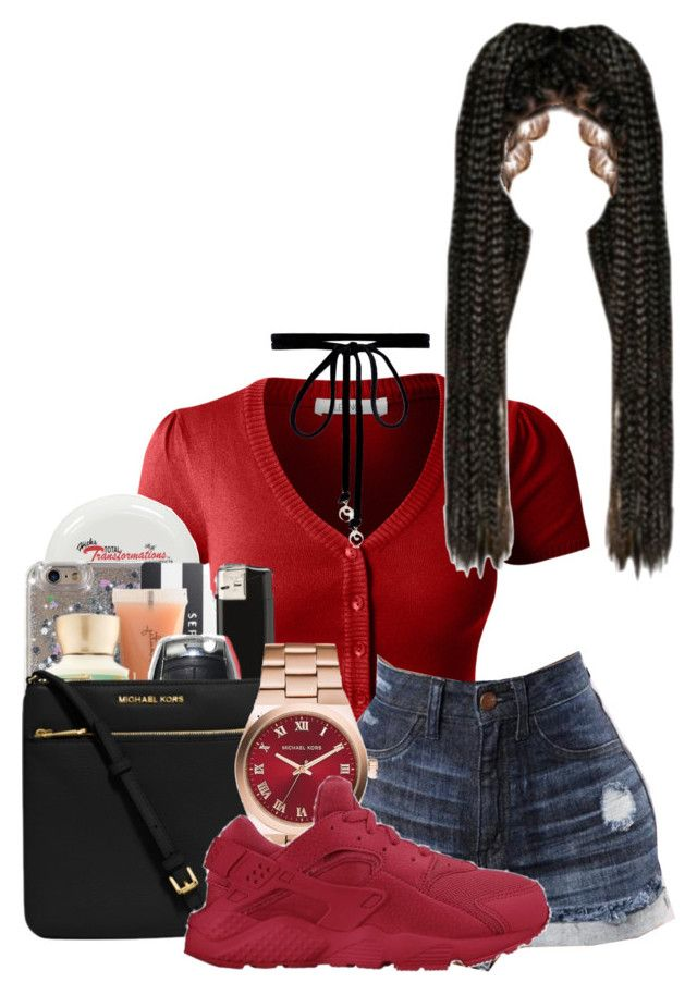 """""""👅❤️"""" by itsjaylaa ❤ liked on Polyvore featuring LE3NO, Michael Kors, NIKE and Joomi Lim"""