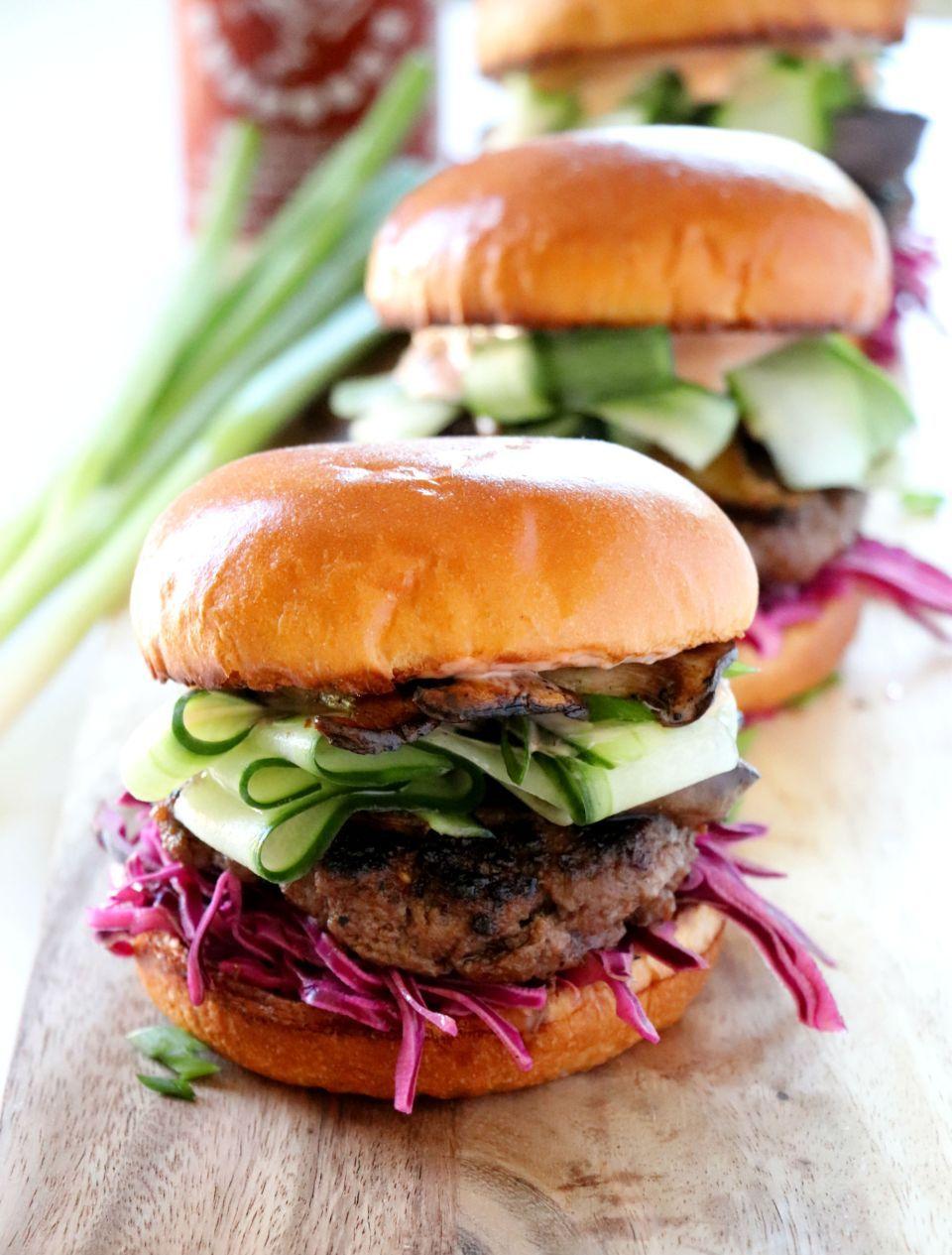 Asian Burger Dash Of Savory Cook With Passion Recipe Gourmet Burgers Food Burger