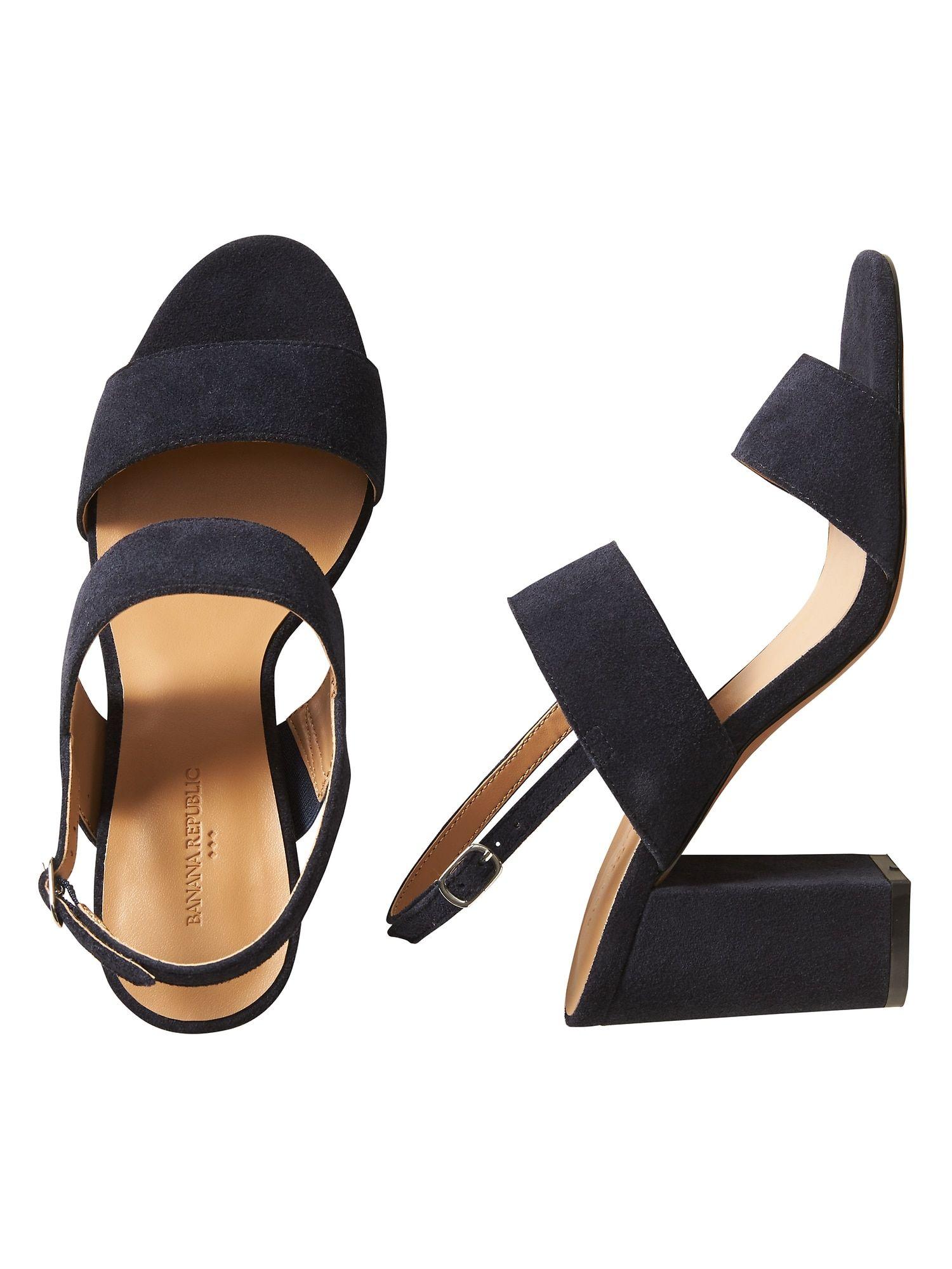 2b3d42fbfdb Double Strap Block-Heel Sandal