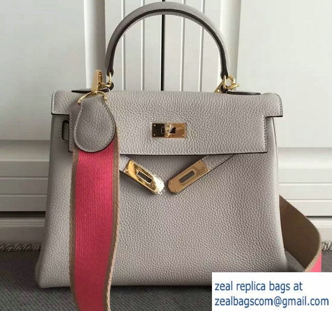 e4aee7c7ee0b ... netherlands hermes kelly 32 28 togo leather with amazon strap bag light  gray 2016 hermes kelly
