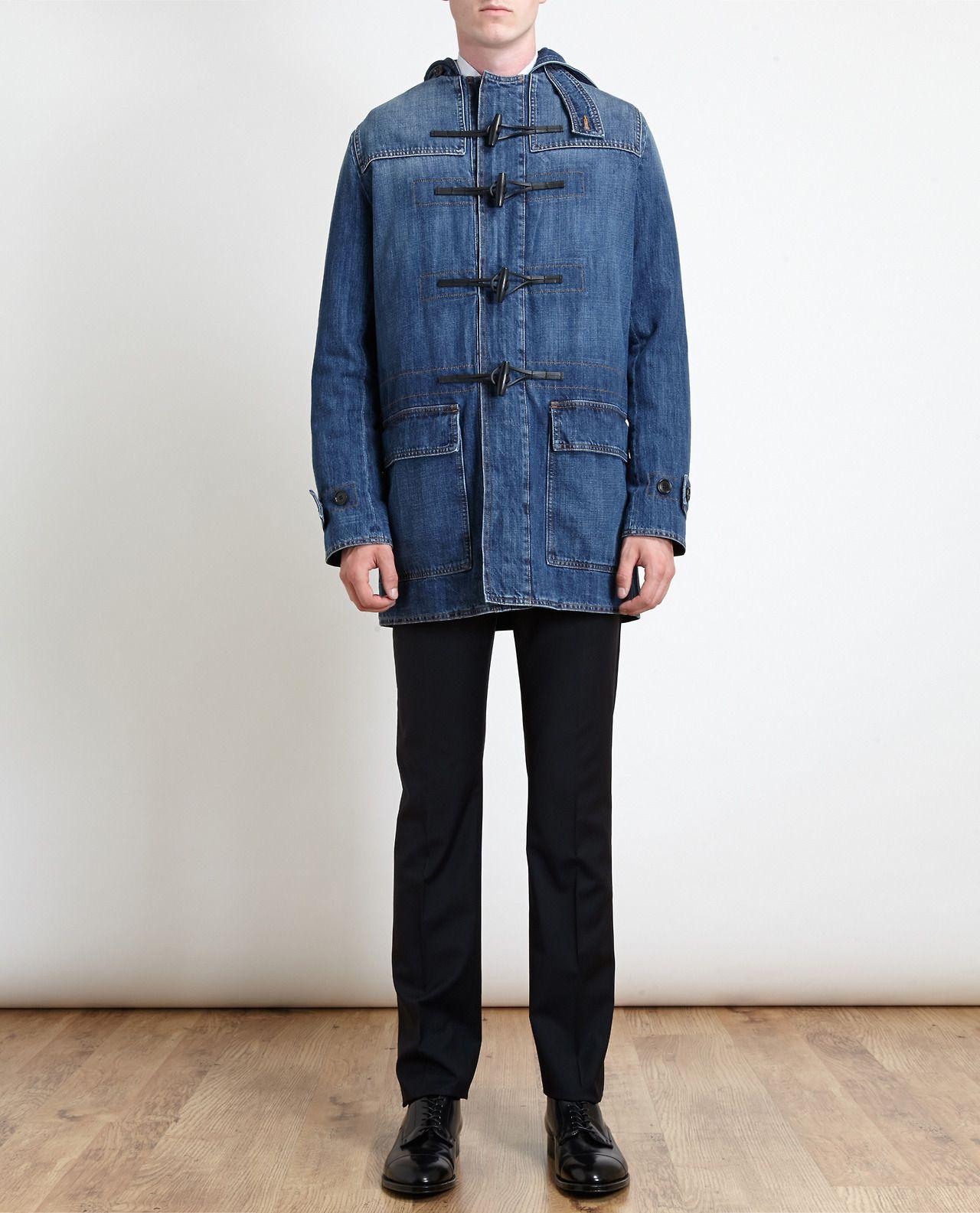 Dior Homme Denim Duffle Coat | Men's Style Fabric | Pinterest ...