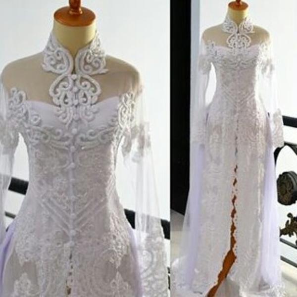 Baju Kebaya Pengantin Warna Putih Trend Terbaru Model